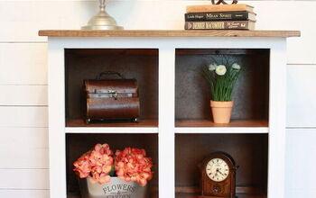 Repurposed Childhood Kitchen Cabinet