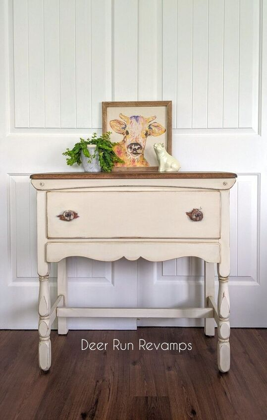 easy farmhouse style sideboard buffet makeover