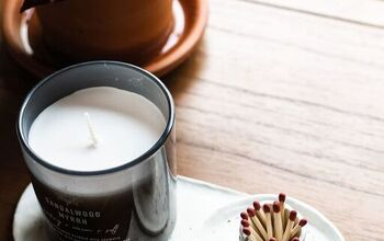 Air Dry Clay Candle + Match Holder