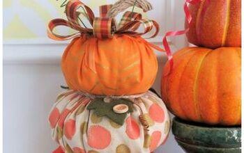Festive Fabric Pumpkin Topiary