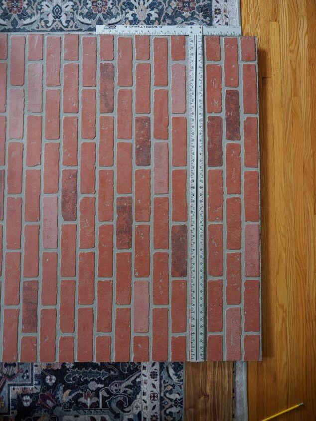 diy faux brick wall