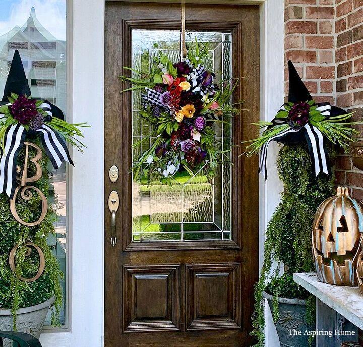 make this halloween door swag diy in a day