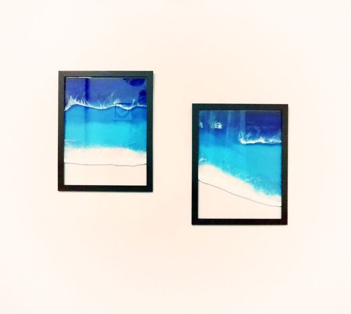 resin ocean picture frames