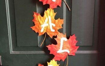 2 DIY Fall Leaf Decorations