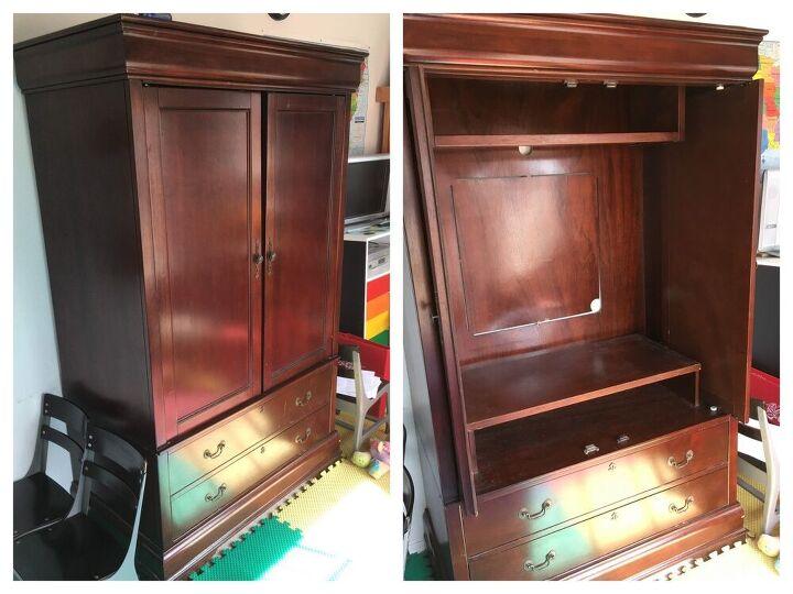 media center armoire to art center