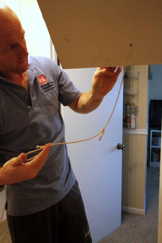 how to change an attic pull string to a hook