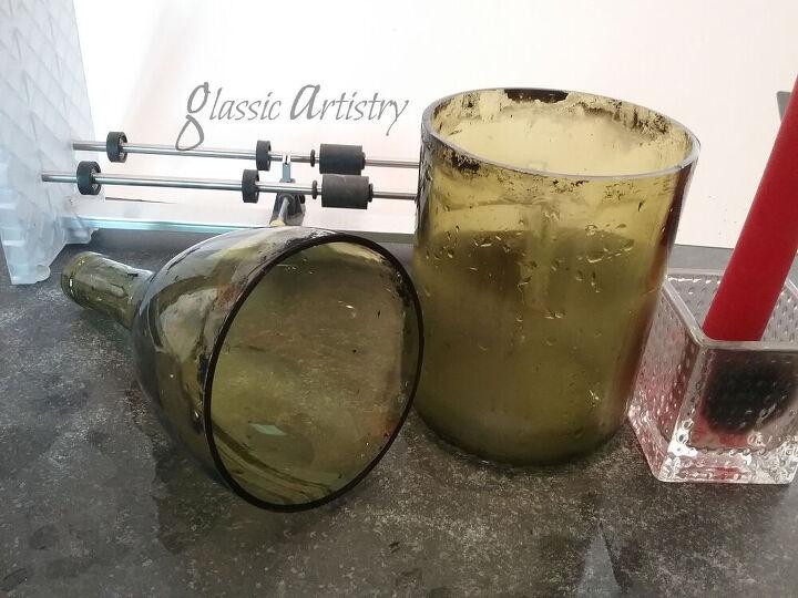 wine bottle apothecary jars diy