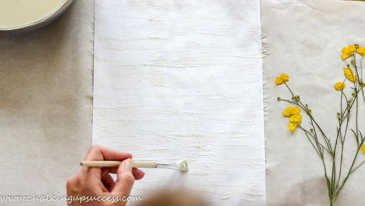 how to make pressed flower prints