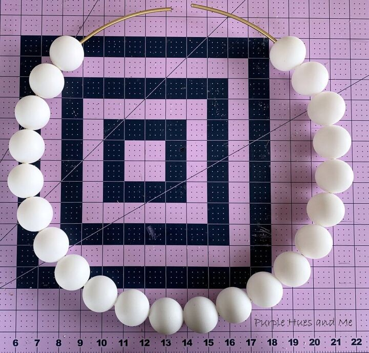 painted ping pong balls wreath