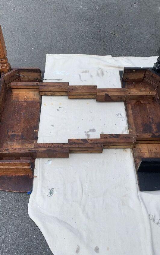 repurposed antique table diy desk