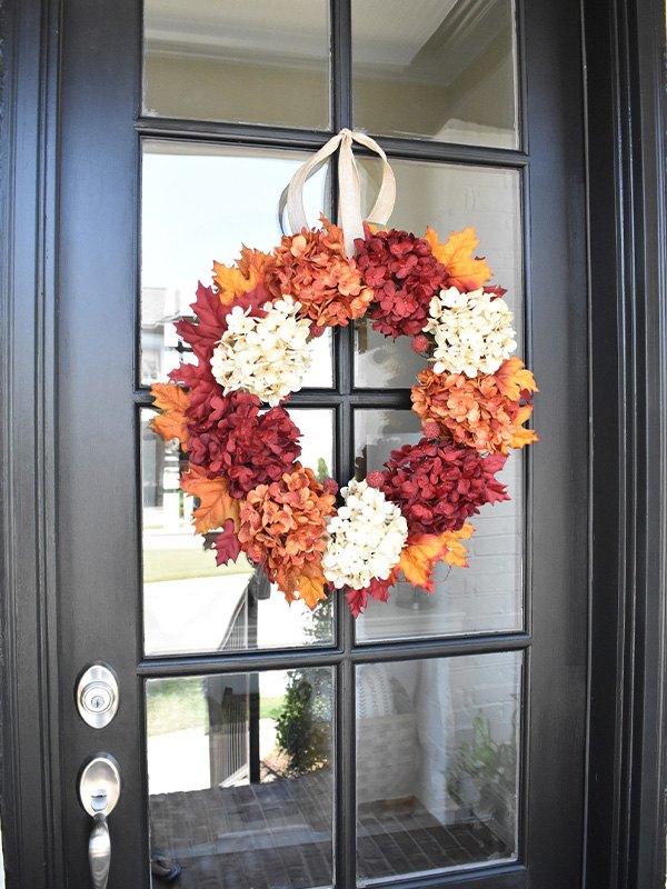 how to make an easy fall wreath