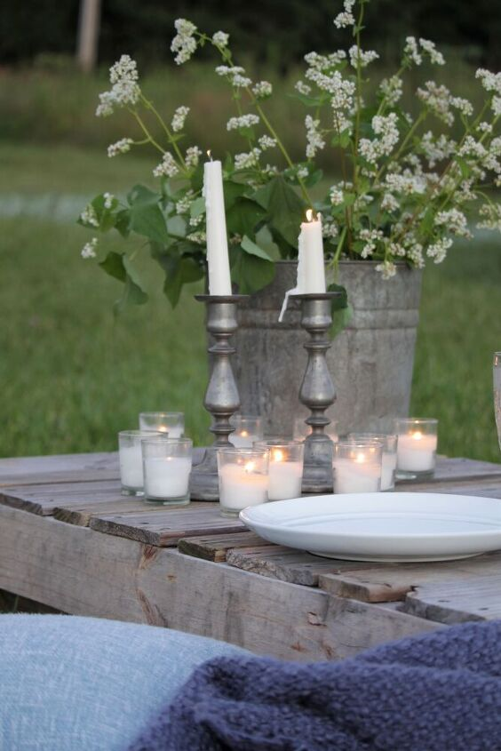 how to create a simple boho table from pallets