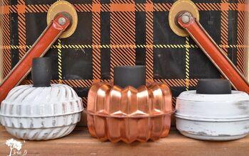 DIY Repurposed Tart Tin Pumpkins