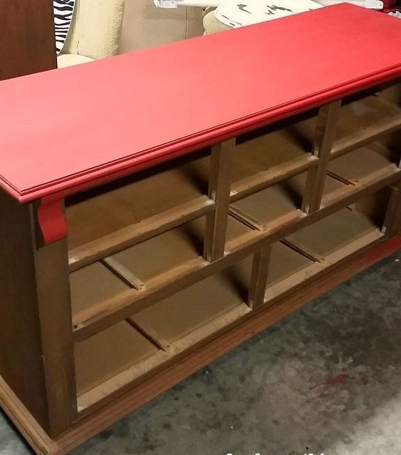 dresser to media center upcycle