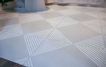 How To Paint Tile Floor (With Stenciling)
