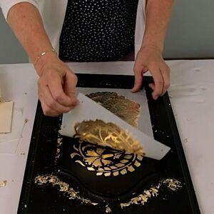 Gold Leaf Stenciling