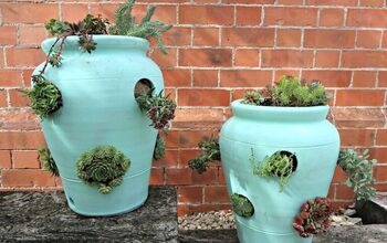 How To Turn Strawberry Planters Into Succulent Pots