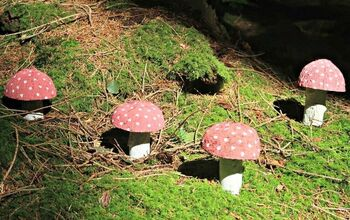 Coconut Shell Craft: How To Make Fairy Toadstools
