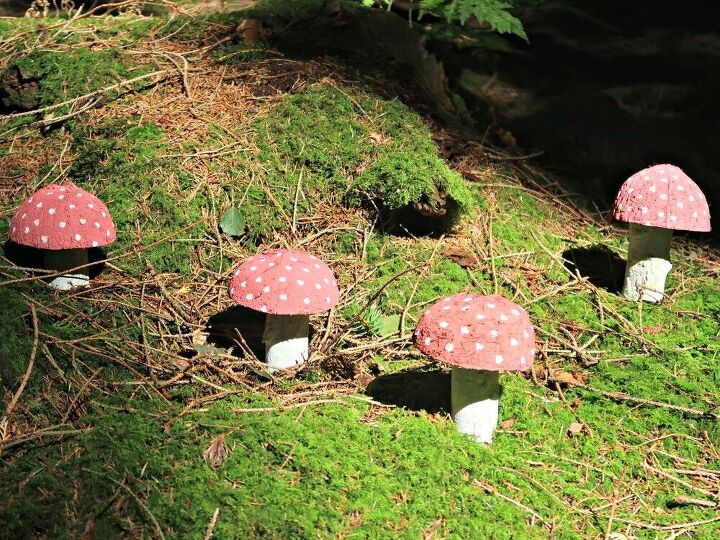 coconut shell craft how to make fairy toadstools