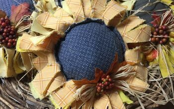 Raggedy Sunflowers for Fall Decorating
