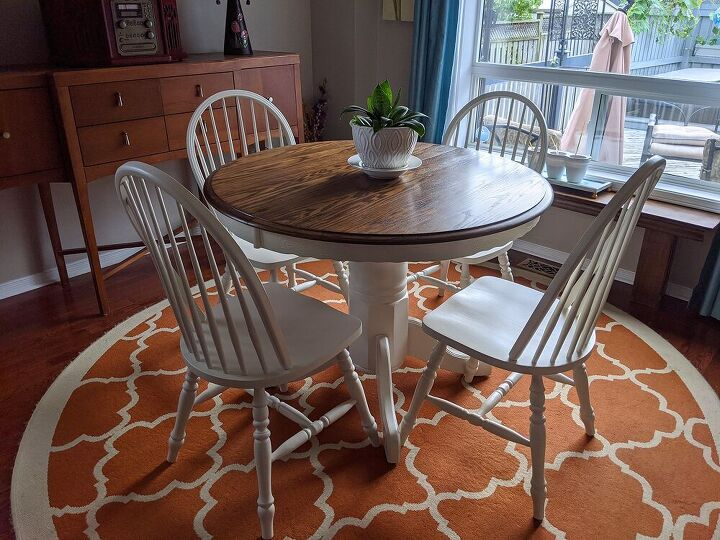90s oak dining set gets a make over