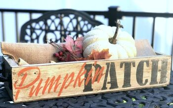 Make a New Crate Look Old for Fall Decor