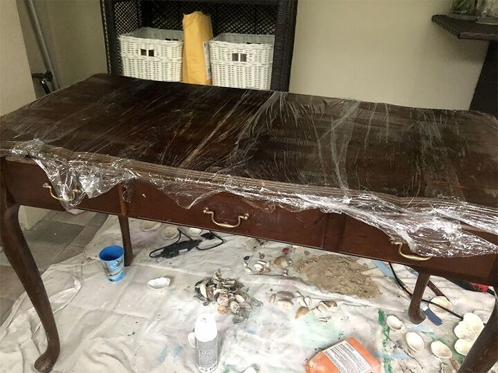 trash to treasure console table