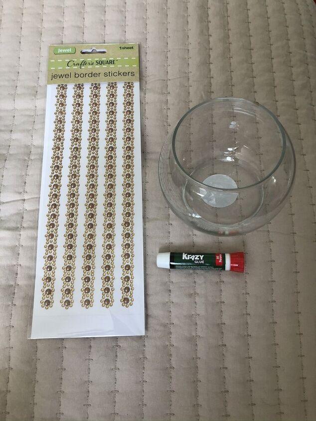 dollar store hob nail vase