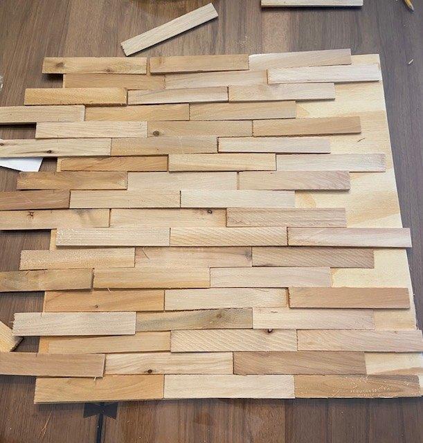 wood shim diy wall art
