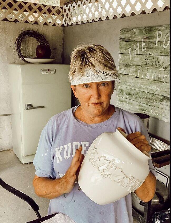 easy diy faux earthenware vessel