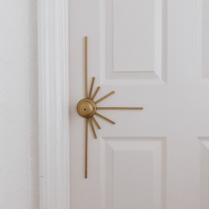 s 12 out of the box diy ideas you re going to want to try, Sunburst Door Knob Tutorial