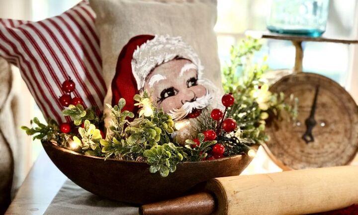 christmas holiday flour sacks diy decor