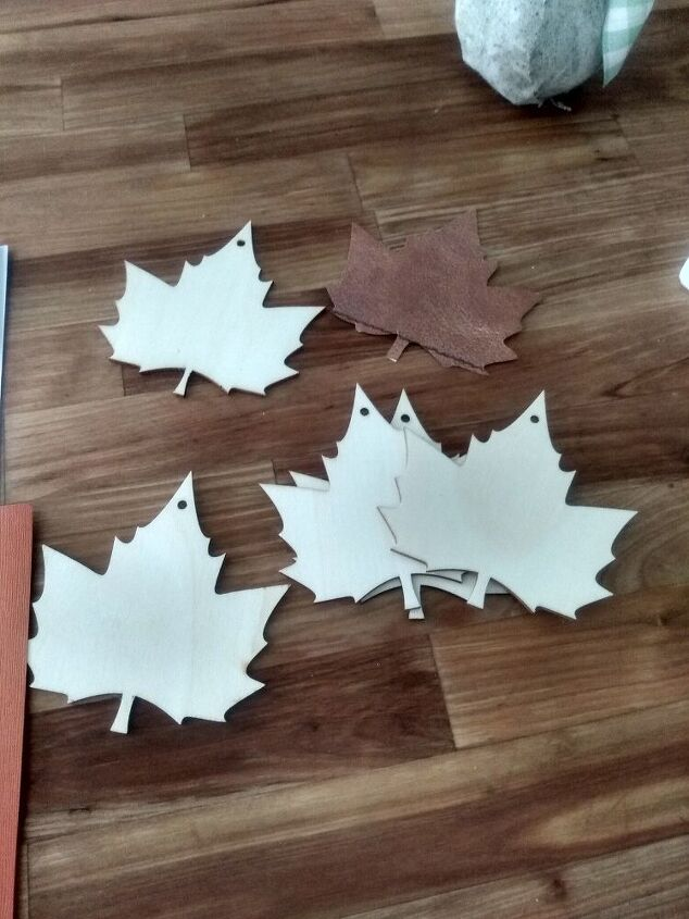 faux leather leaves