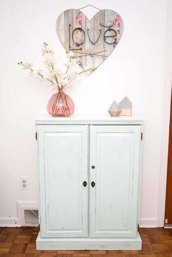 how to inexpensively update a cabinet