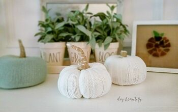 Sweater Sleeve Pumpkins