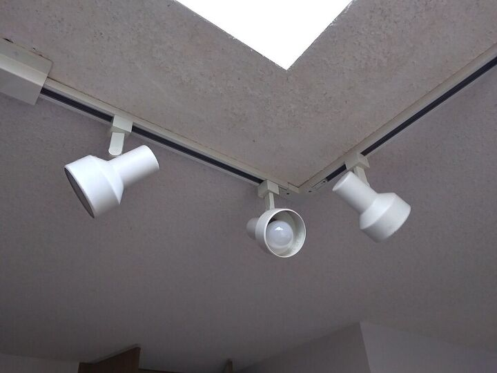 q going to remove bottom of track lights turn into pendant lights