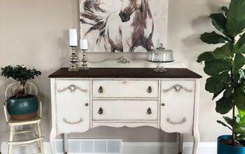 Antique Buffet Goes Bold and Bright Farmhouse