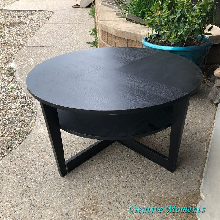 mandala stenciled ikea round coffee table