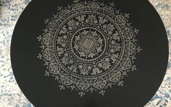 Mandala Stenciled IKEA Round Coffee Table