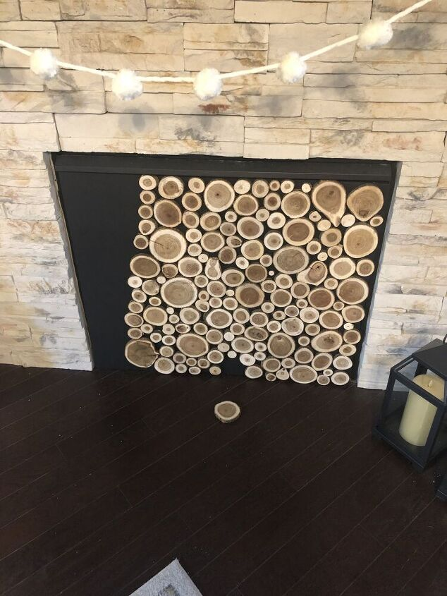 fireplace stacked logs