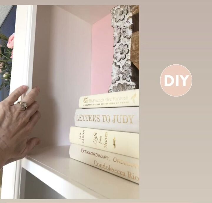 update a bookcase with foam board