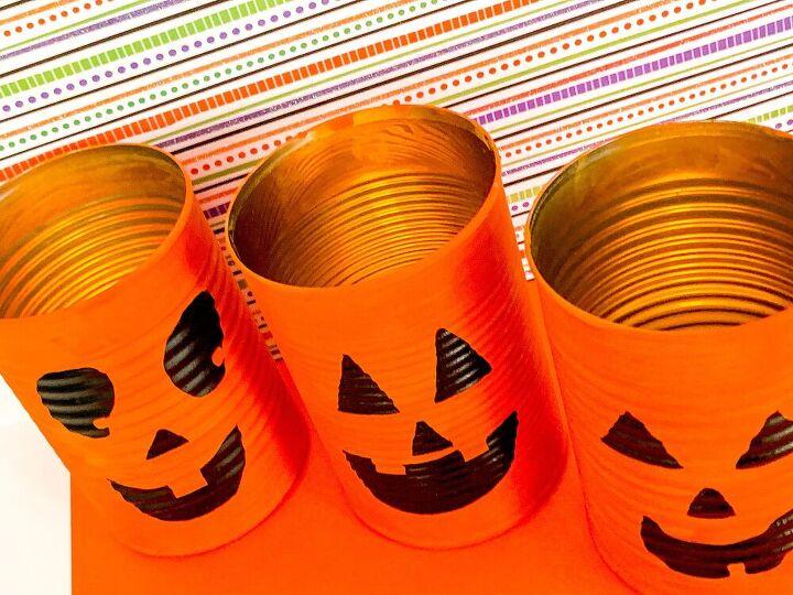 tin can halloween lanterns