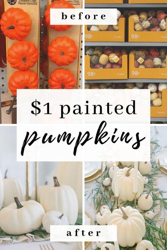 1 diy painted pumpkins