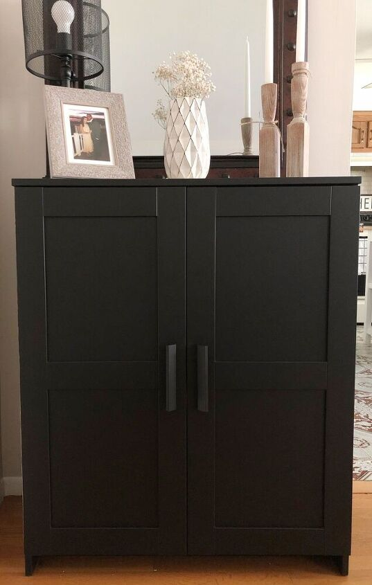 quick ikea cabinet makeover