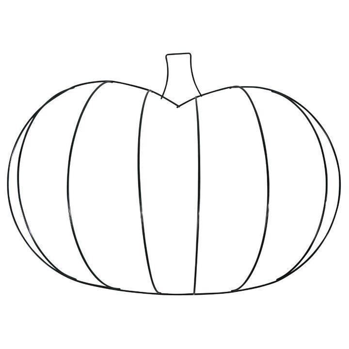 decorate a wire pumpkin using a simple macrame knot
