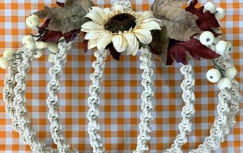 Decorate a Wire Pumpkin Using a Simple Macrame Knot