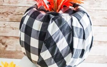 Farmhouse Buffalo Check Pumpkin DIY