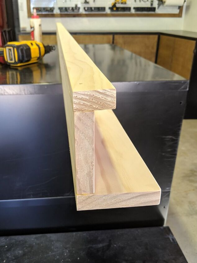 how to make a picture ledge without a saw