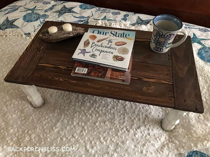 how to make a farmhouse bed tray