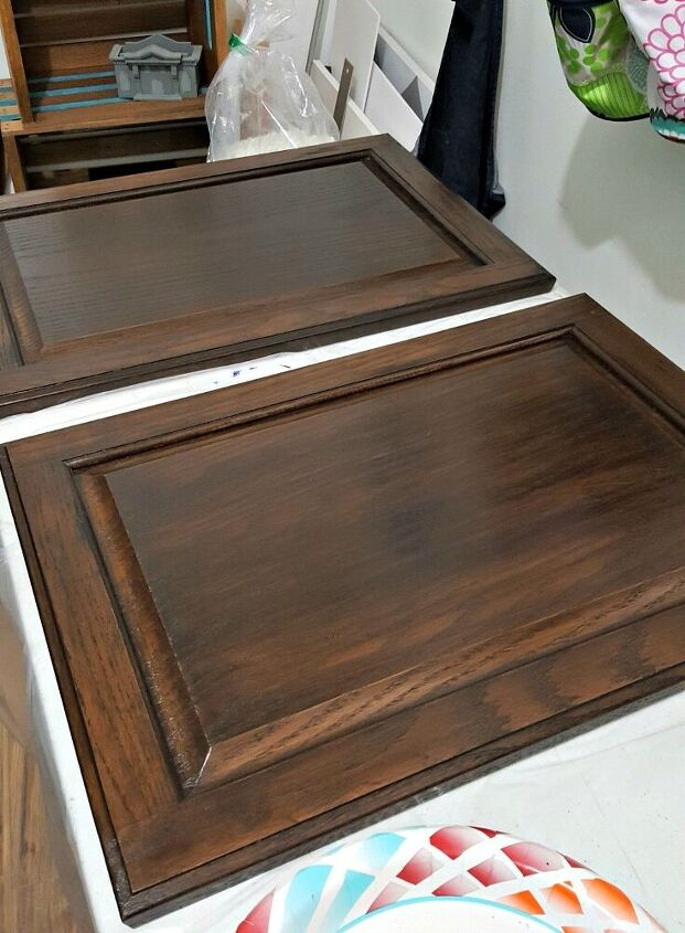 serving trays made from cabinet doors